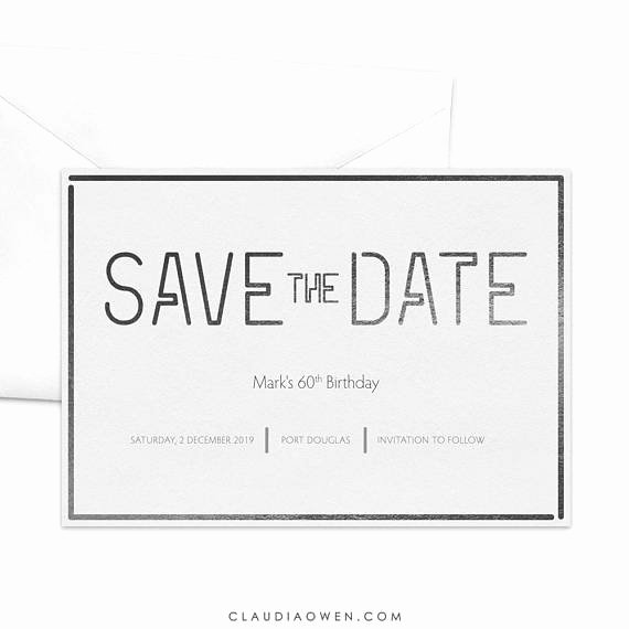 Save the Date Business event Luxury Modern Save the Date Card Professional Corporate event