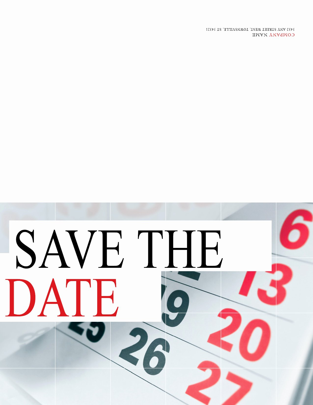 Save the Date Corporate event Best Of Customizable Every Door Direct Mail& Template for