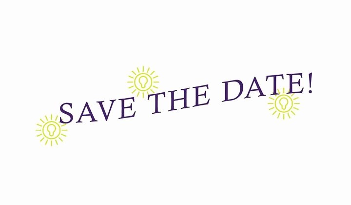Save the Date Corporate event Elegant Save the Date for Enlightened events First event at