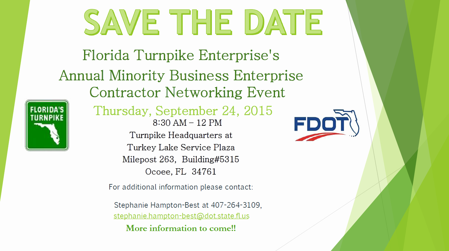 Save the Date Corporate event Fresh to Current Calendar
