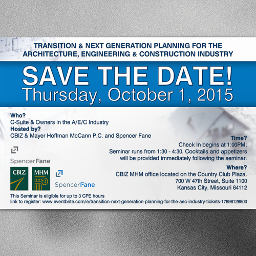 Save the Date Corporate event Inspirational Professional Sleek & Creative Corporate event Save the