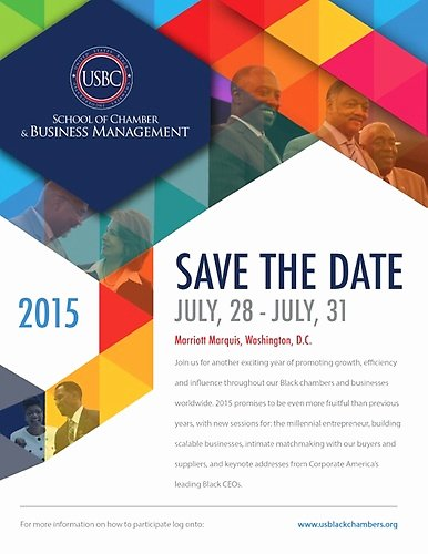 Save the Date Corporate event Lovely Entrepreneur Training and Chamber Development