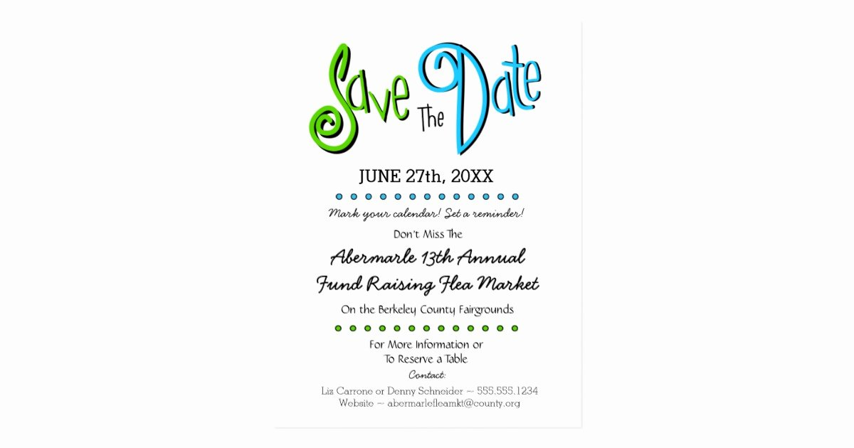 Save the Date Corporate event Unique Church School Business event Save the Date Postcard