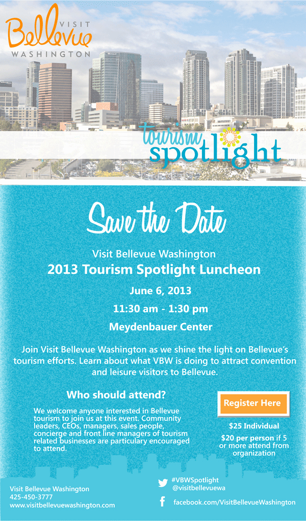 Save the Date Corporate event Unique Save the Date tourism Spotlight Luncheon Visit Bellevue