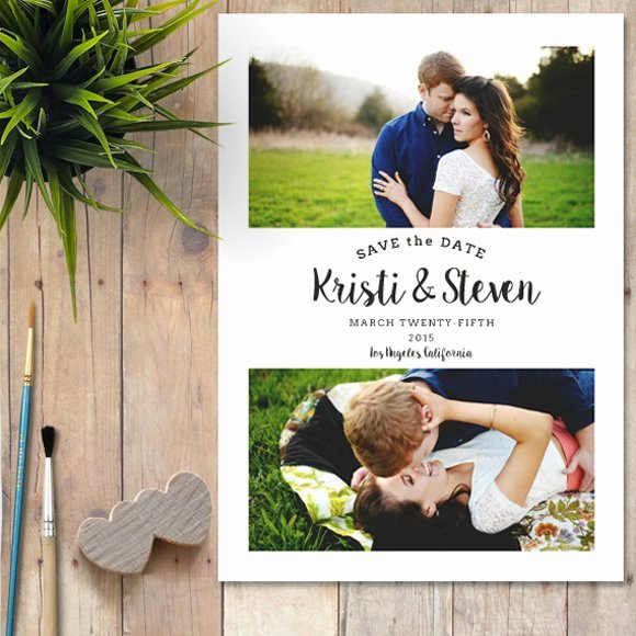 Save the Date Templates Photoshop Awesome Save the Date Shop Template Wedding Templates Creative Market