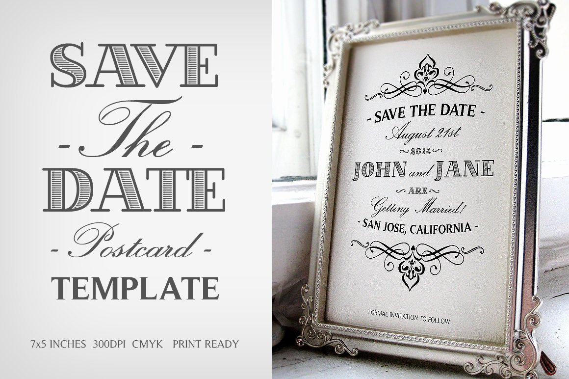 Save the Date Templates Photoshop Best Of Save the Date Postcard Template V 1 Wedding Templates Creative Market