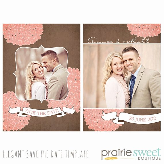 Save the Date Templates Photoshop Elegant Hydrangea Save the Date Shop Template for Professional