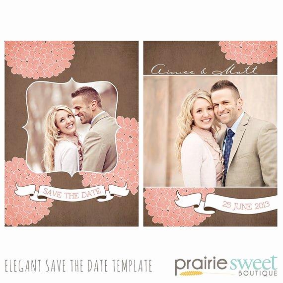 Save the Date Templates Photoshop Elegant Hydrangea Save the Date Shop Template for Professional