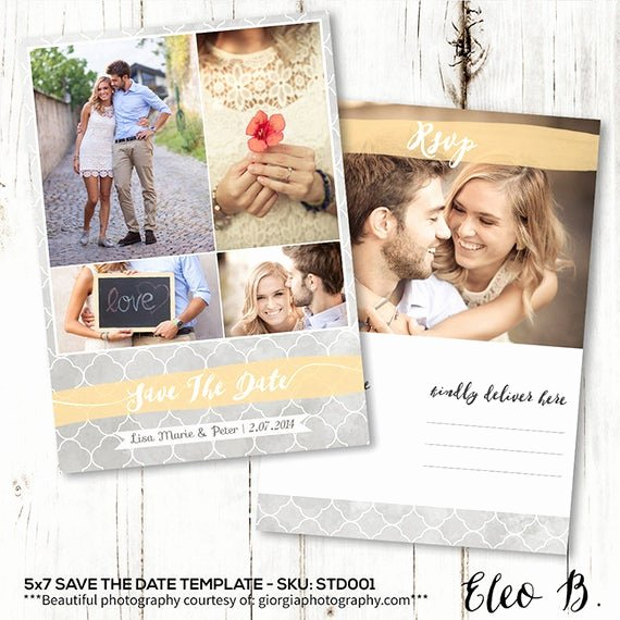 Save the Date Templates Photoshop Inspirational 5x7 Save the Date Postcard Template Engagement Announcement