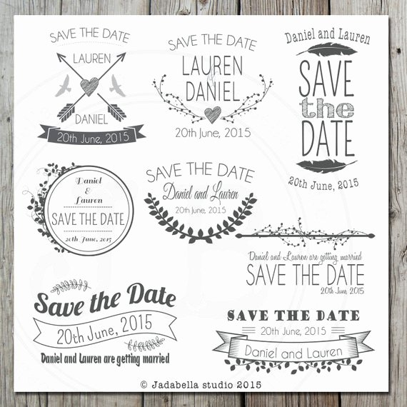 Save the Date Templates Photoshop Inspirational Items Similar to Save the Date Wordart Overlays Card Templates Save the Date Cards Editable