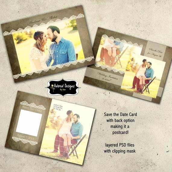 Save the Date Templates Photoshop Lovely Items Similar to Save the Date Instant Download Shop Templates Engagement Announcements