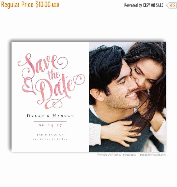 Save the Date Templates Photoshop Luxury Sale Save the Date Template 5x7 Card Shop by Fotovella