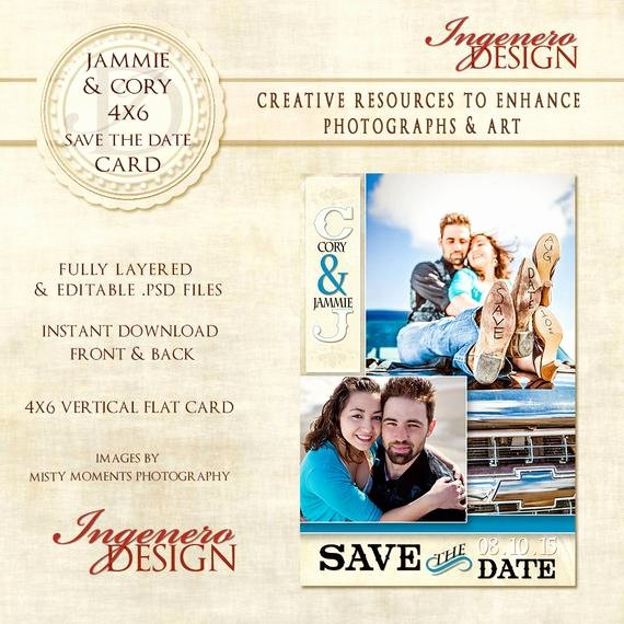 Save the Date Templates Photoshop New Save the Date Shop Template Jammie and by Ingenerodesign