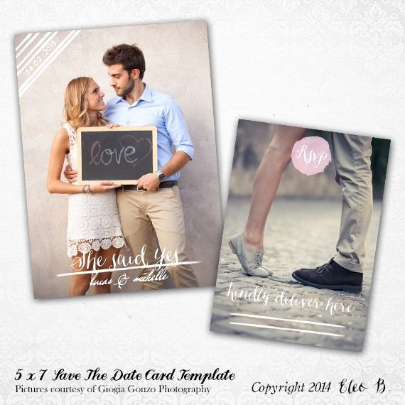 Save the Date Templates Photoshop Unique 5x7 Save the Date Template Shop Template Std005 Instant Shop at Etsy