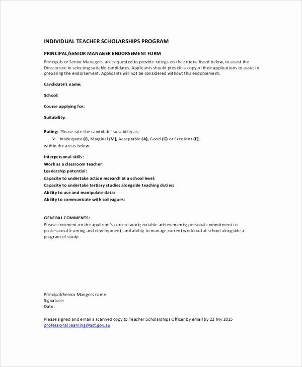 Scholarship Application Template Word Awesome Sample Tar Application form 5 Documents In Pdf Word
