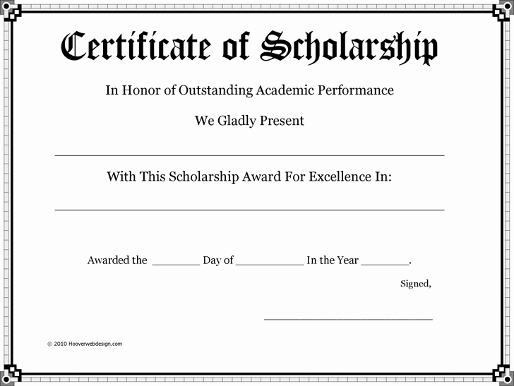 Scholarship Application Template Word Unique Certificate Of Scholarship Pto Teacher Gifts Pinterest