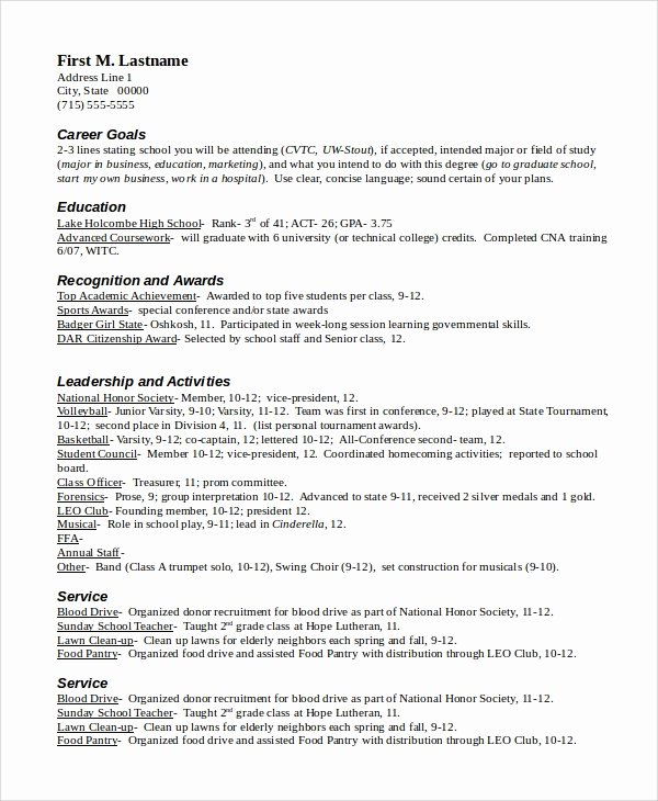 Scholarship Application Template Word Unique Resume Sample In Word 10 Examples In Word