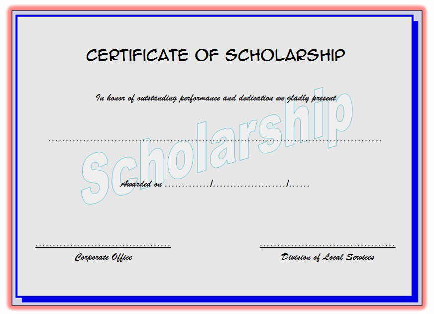 Scholarship Application Template Word Unique Scholarship Certificate Template top 10 Greatest Ideas