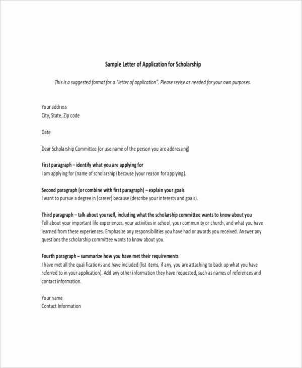Scholarship Award Letter Samples Awesome Scholarship Letter Template 11 Free Sample Example format Download