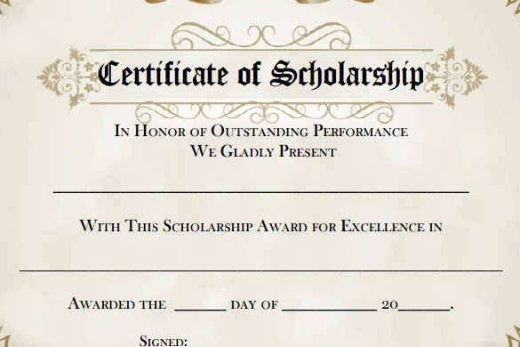 Scholarship Award Letter Templates Awesome 7 Scholarship Certificate Templates Word Psd Illustrator In Design Publisher