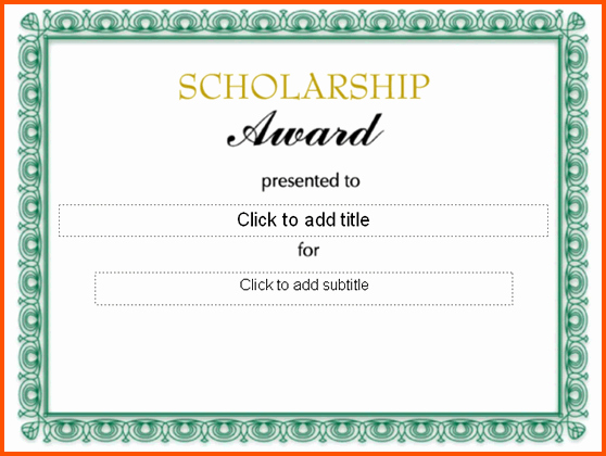 Scholarship Award Letter Templates Lovely 8 Scholarship Award Certificate