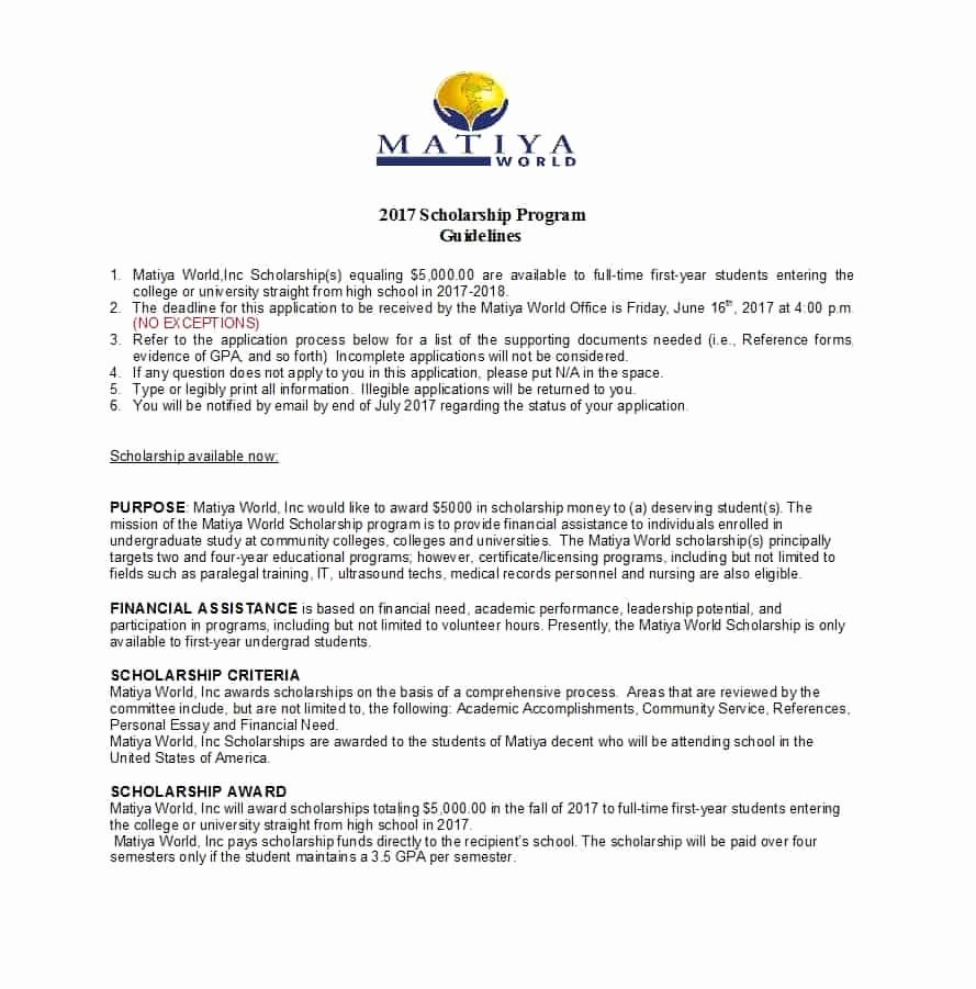Scholarship Award Letter Templates Luxury 10 Scholarship Request Letter Sample