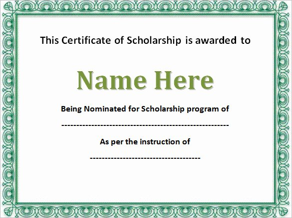 Scholarship Awards Certificates Templates Awesome 43 formal and Informal Editable Certificate Template Examples for Your Inspiration Thogati