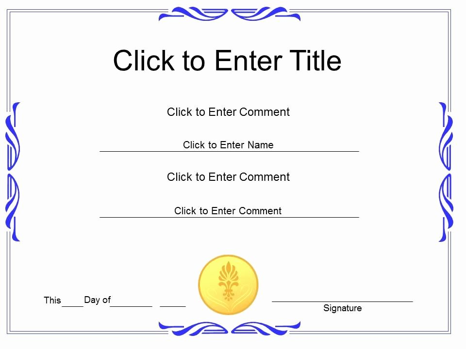 Scholarship Awards Certificates Templates Elegant Award Recognition Diploma Certificate Template Of Achievement Pletion Powerpoint for Adults