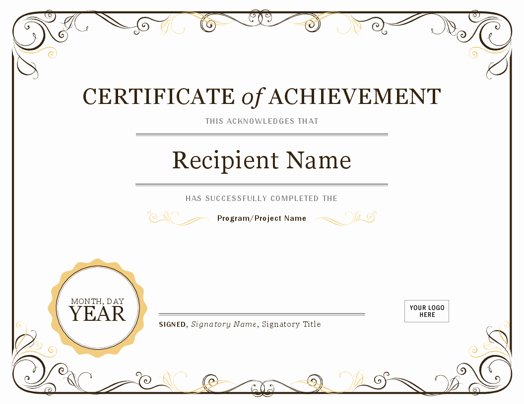Scholarship Awards Certificates Templates Elegant Certificate Of Achievement
