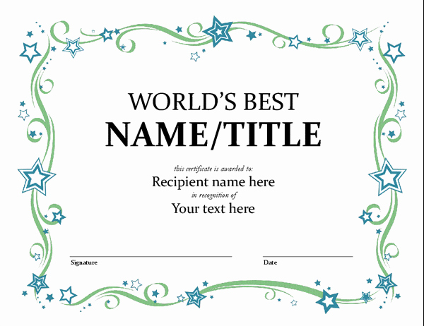 Scholarship Awards Certificates Templates New World S Best Award Certificate