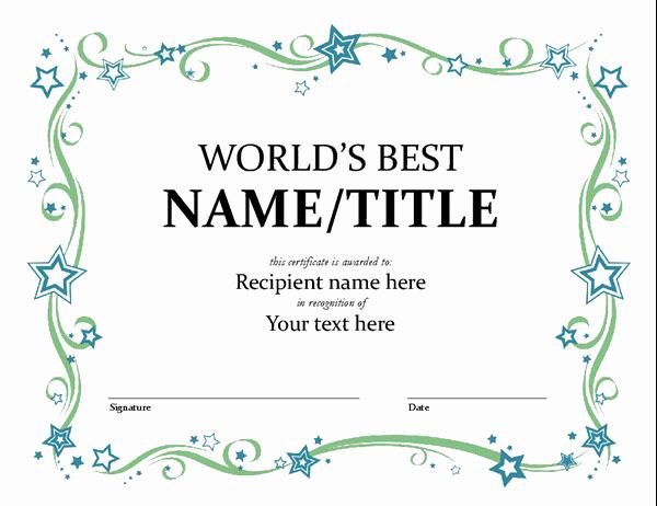 Scholarship Awards Certificates Templates New World S Best Award Certificate