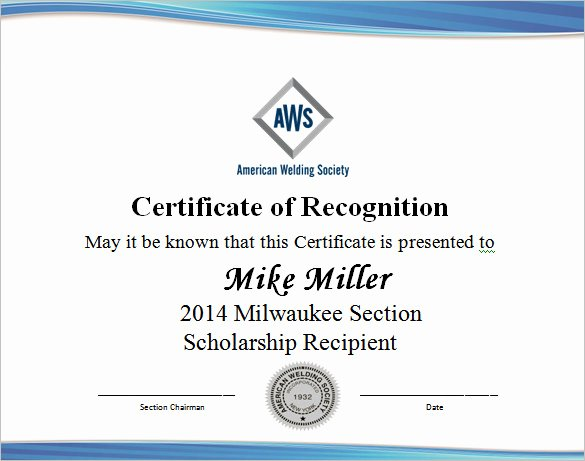 Scholarship Awards Certificates Templates Unique 9 Scholarship Certificate Templates – Free Word Pdf format Download