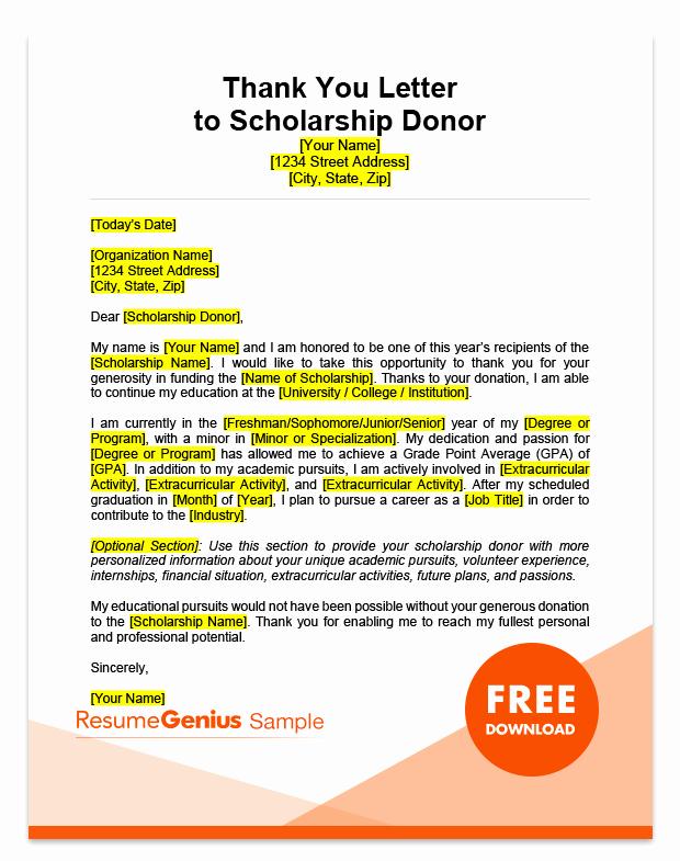 scholarship samples