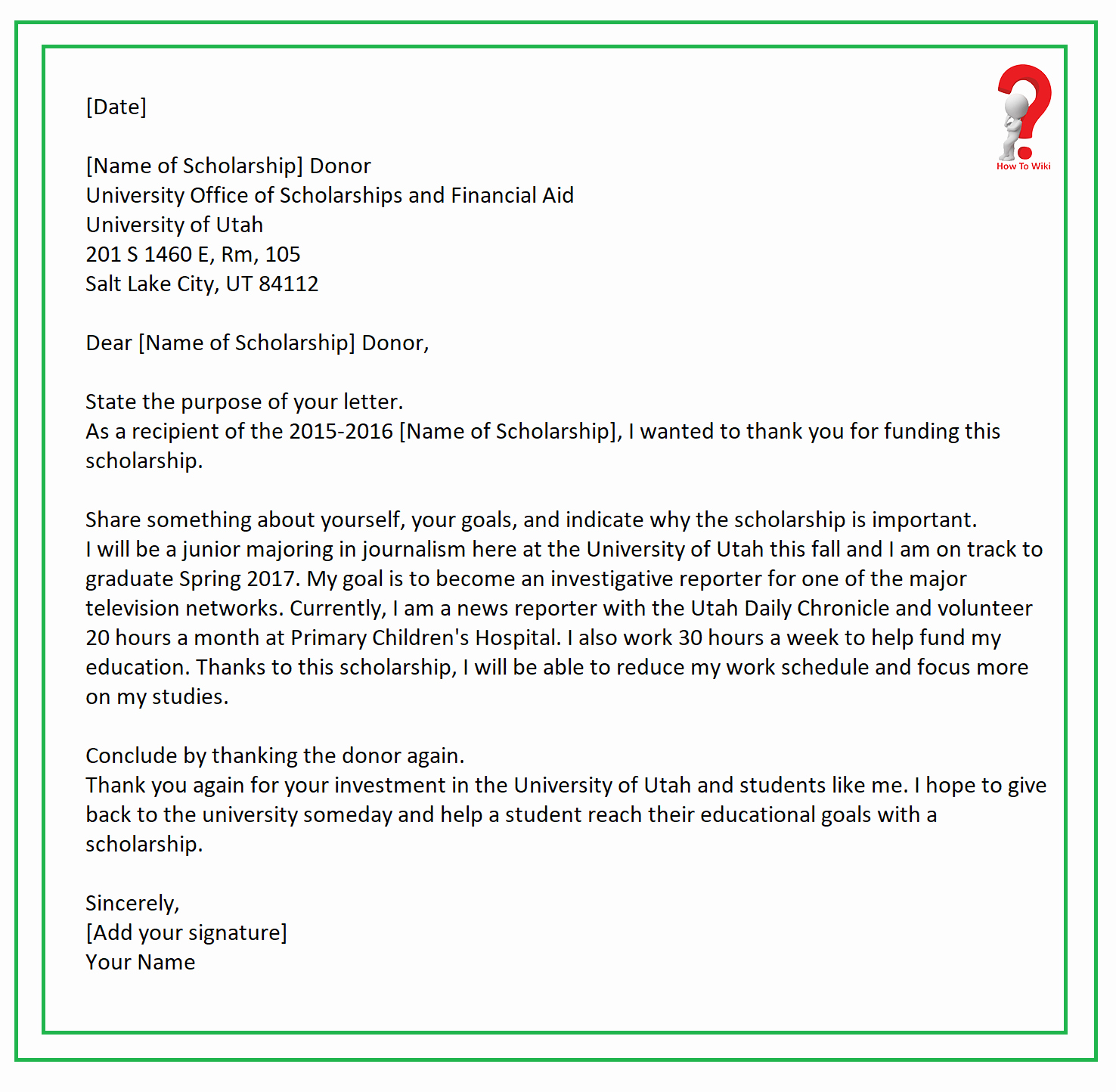 Scholarship Thank You Letter Template Best Of How to Write Thank You Letter for Scholarship