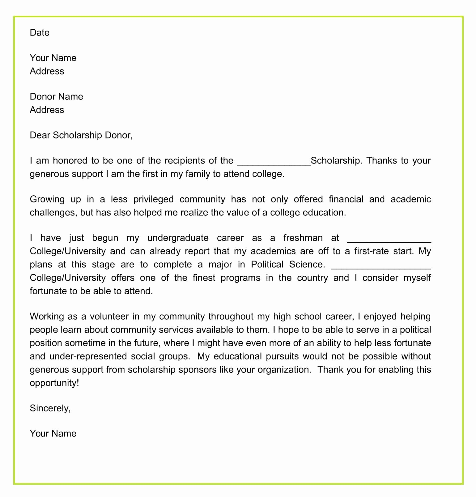 Scholarship Thank You Letter Template Elegant How to Write Thank You Letter for Scholarship