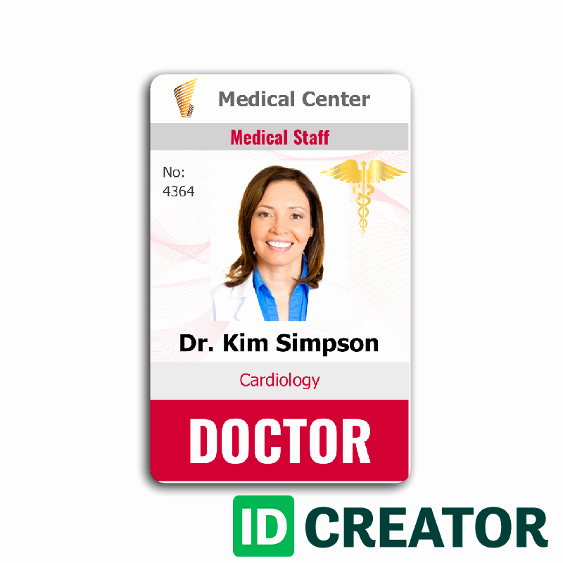 School Emergency Card Template Fresh Doctor Id Card 4 Healthcare Hospital Badge