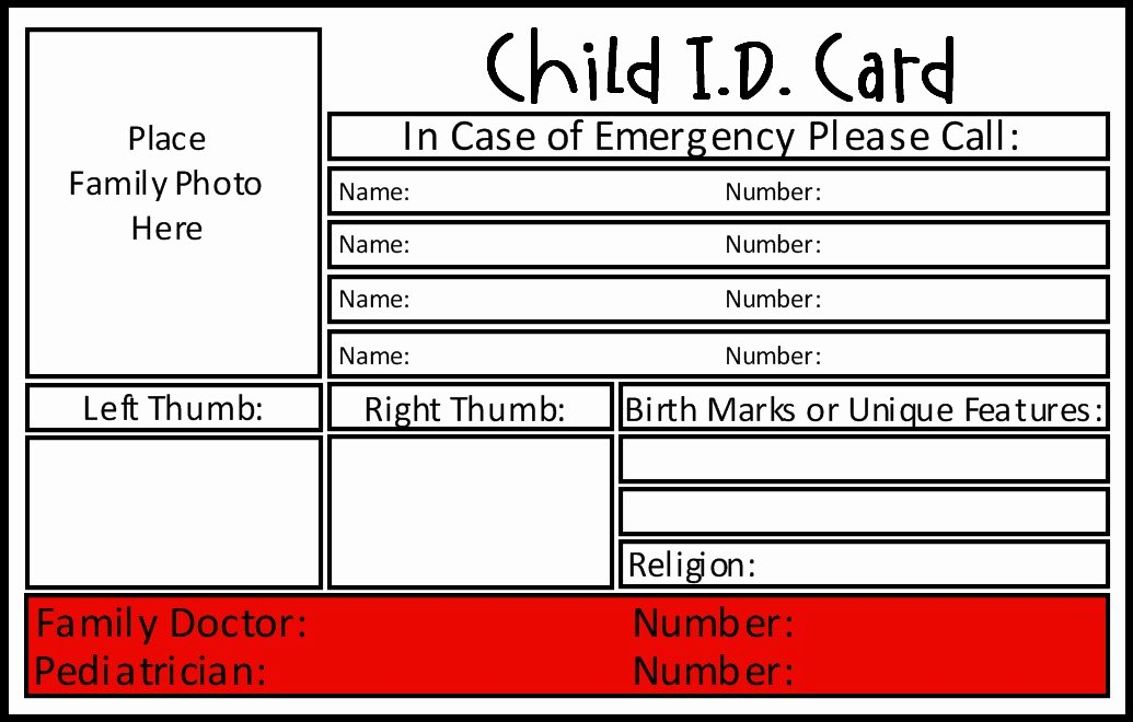 School Emergency Card Template Luxury Prepared Not Scared Preparedness Project Emergency School Bags