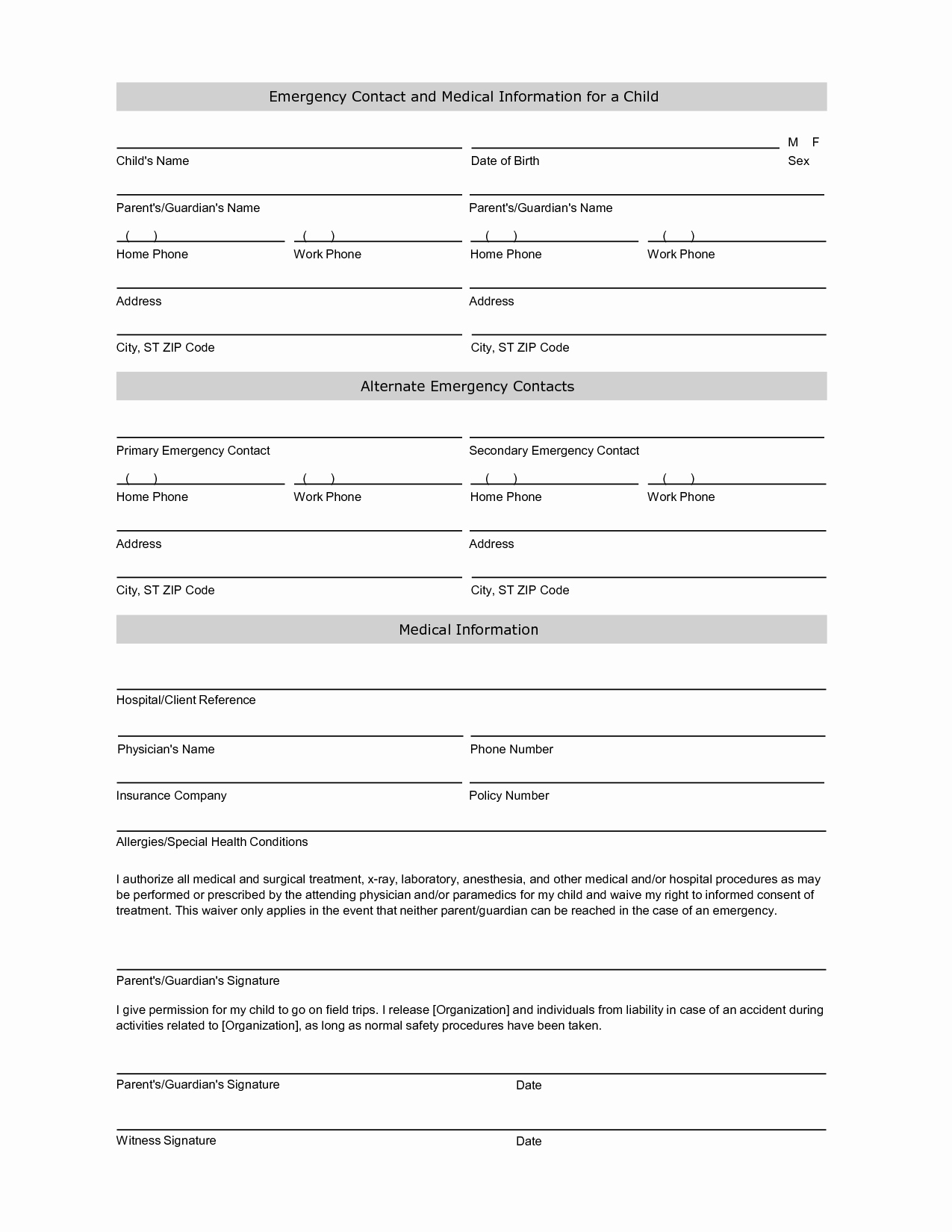 School Emergency Card Template New Employee Emergency Contact Printable form to Pin On Pinterest Pinsdaddy