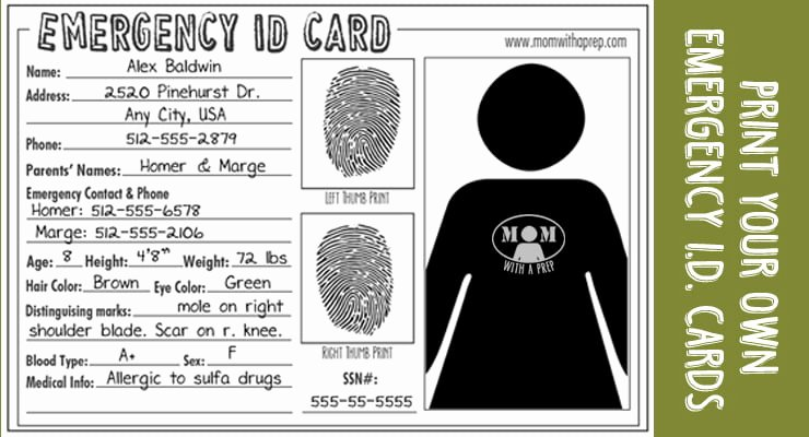 School Emergency Card Template Unique How to Create Child S Emergency Kit for School Care