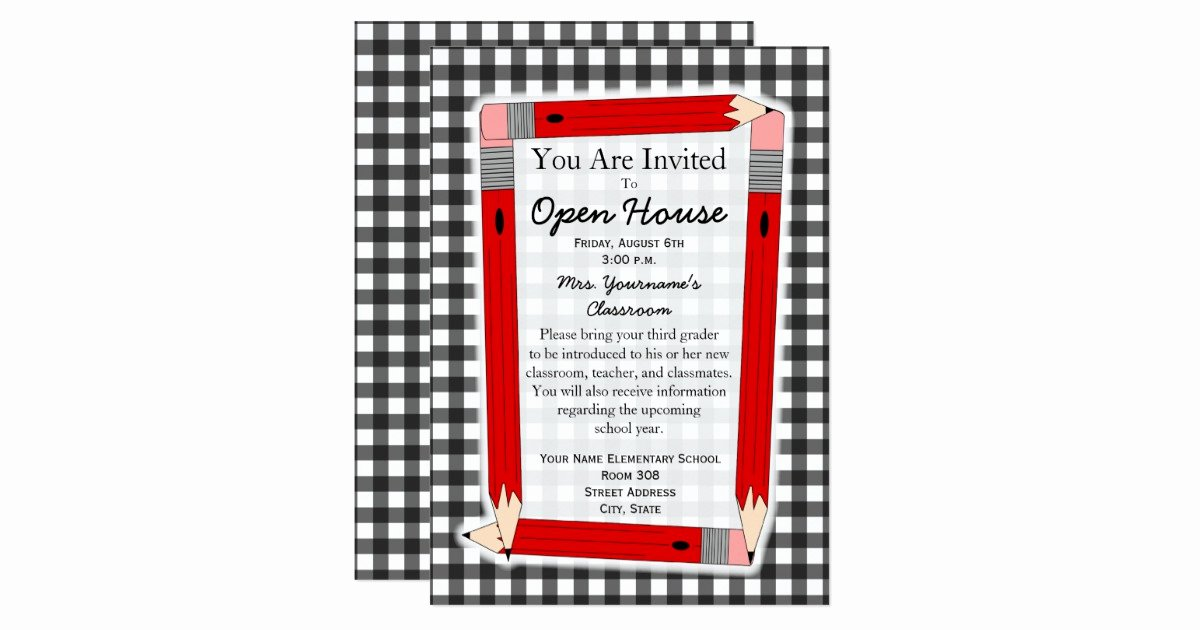 School Open House Invite Beautiful Back to School Open House Invitation