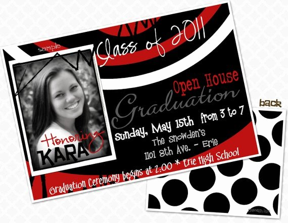 School Open House Invite Beautiful Swirl Graduation Party Invite Graduation Open House Invitation