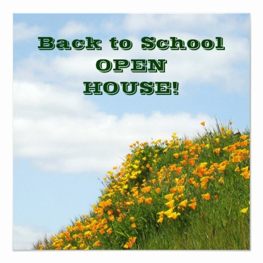 School Open House Invite Best Of Back to School Open House Invitation Cards Poppies