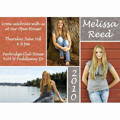 School Open House Invite Best Of Damask Open House Graduation Announcement High School College Graduation Pinterest
