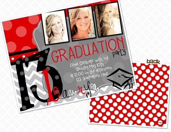 School Open House Invite Best Of Picture Frame Graduation Party Invite Graduation Open House