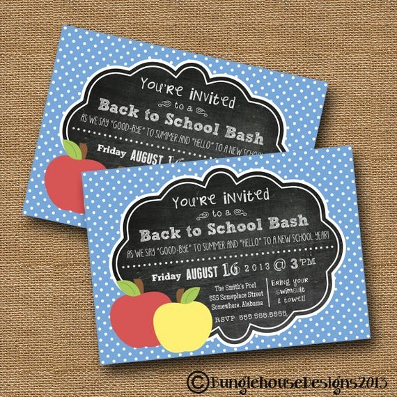 School Open House Invite Elegant Back to School Chalkboard Invitation Teacher Open House
