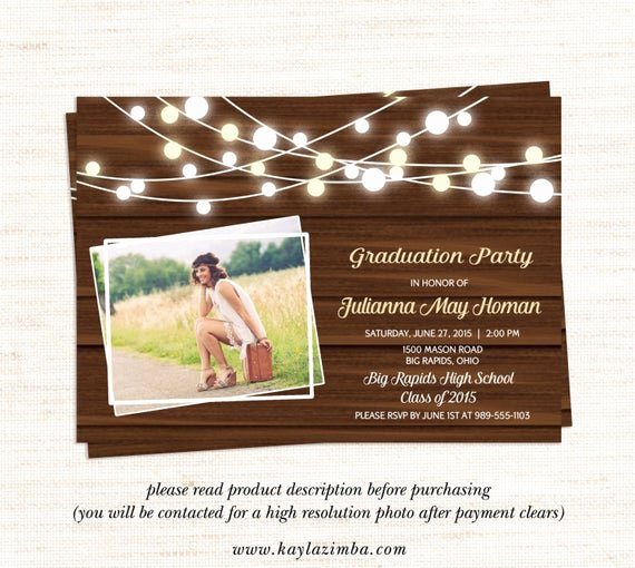 School Open House Invite New Country Graduation Invitation 2015 by Kaylazimbaprintables On Etsy