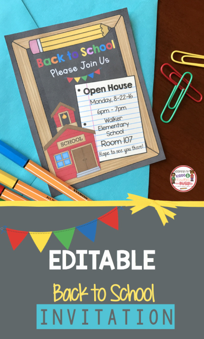 School Open House Invite New Editable Back to School Open House Meet the Teacher Invitation for Preschool Pre K