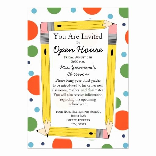 School Open House Invite Unique Back to School Open House Invitation Zazzle