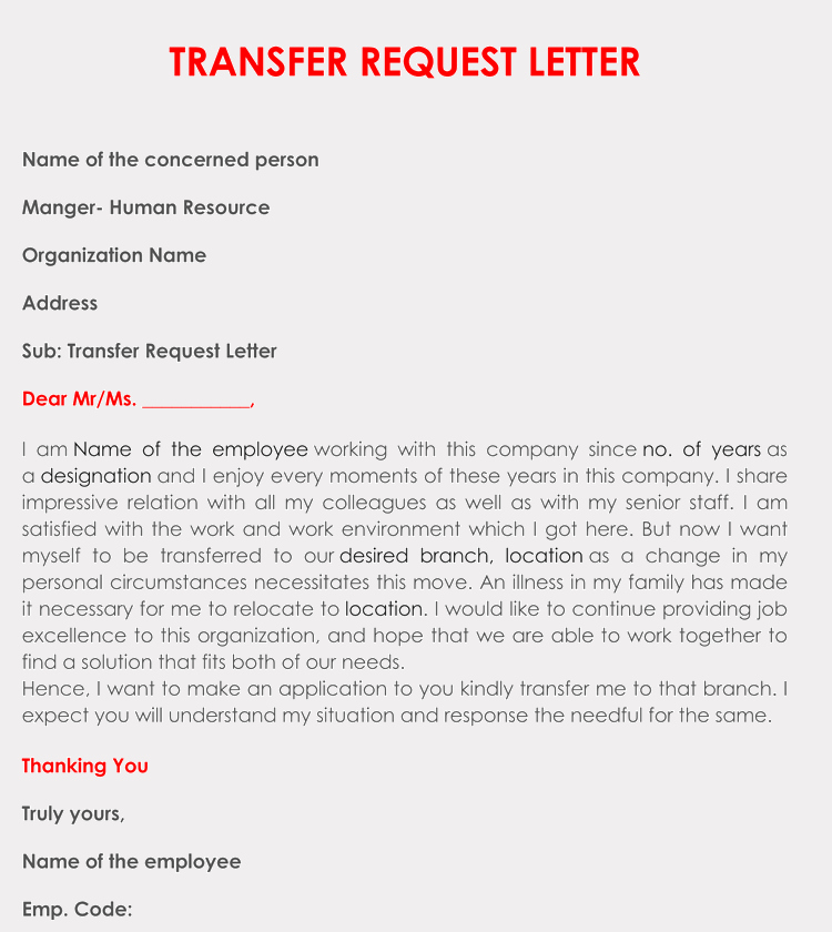 School Transfer Request Letter Lovely Correct format to Write A Transfer Request Letter with Samples