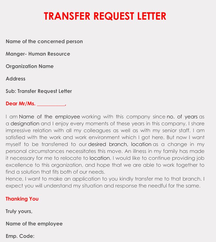 School Transfer Request Letter Lovely Correct format to Write A Transfer Request Letter with Samples